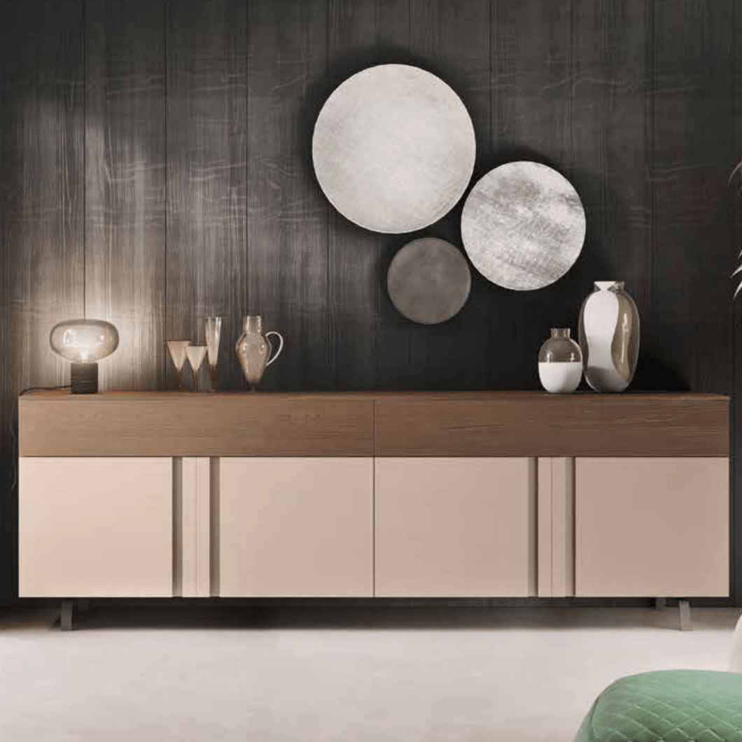 Virgo 4 door modern sideboard by Orme - myitalianliving