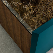 Load image into Gallery viewer, Slash 4 door heat-treated oak sideboard by Dall'Agnese