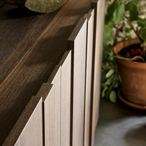 Stripe design heat treated oak sideboard by Dall'Agnese - myitalianliving