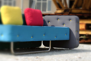 Chew unique Italian 2 or 3 seater sofa by Adrenalina