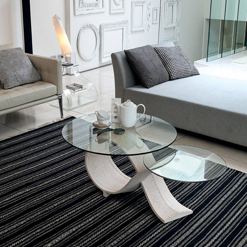 Alpha sculptured ceramic coffee table by Target Point