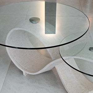 Alpha sculptured ceramic coffee table