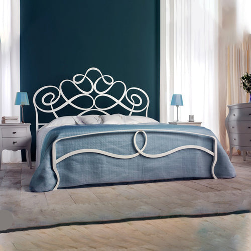 Arabesco wrought iron king size bed by Cosatto Letti - myitalianliving
