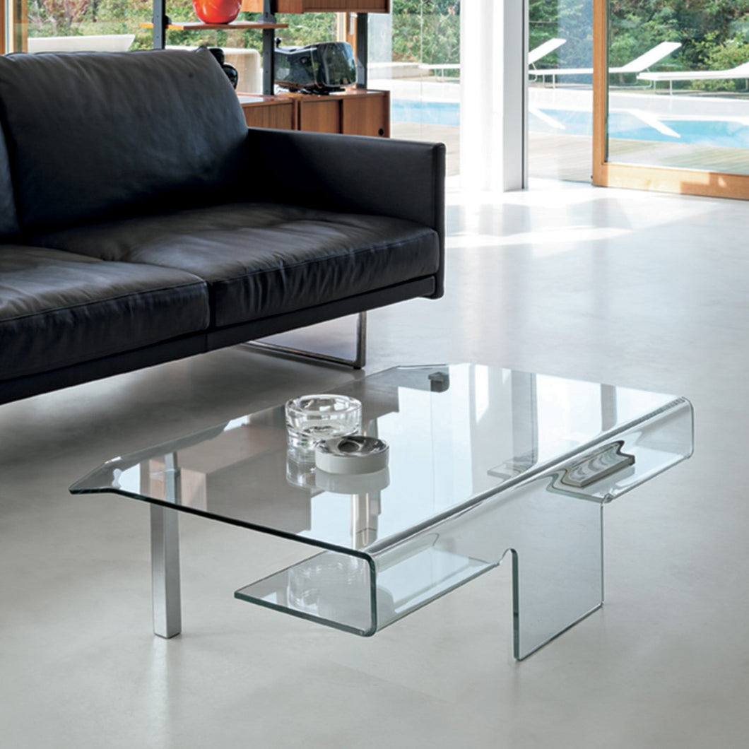 Aries curved glass coffee table by Target Point