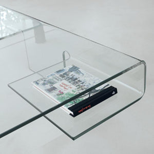 Aries curved glass coffee table