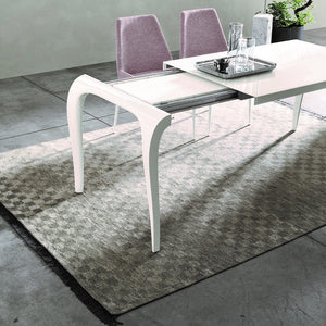 Artu glass and laminate dining table by Sedit