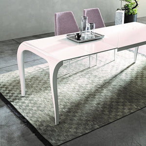 Artu glass and laminate dining table