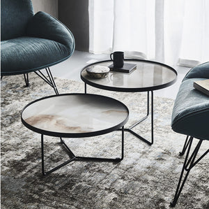Billy Keramik set of 3 round coffee tables by Cattelan Italia