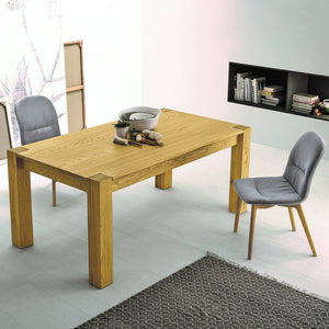 Bio extending veneered oak dining table by Sedit