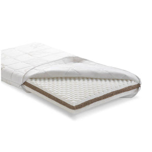 Cot mattress rubberized coir removable lining by Pali - myitalianliving
