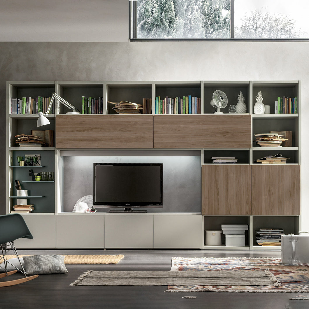 Bookcase with door composition Integra GS103 by Santa Lucia