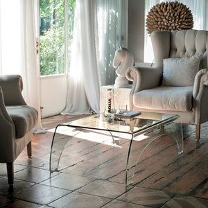 Bridge curved glass coffee table by Target Point