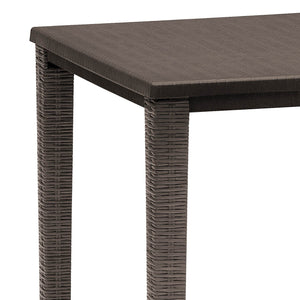 Orazio square rattan garden side table by Scab Design - myitalianliving
