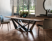 Load image into Gallery viewer, Skorpio wooden fixed dining table by Cattelan Italia