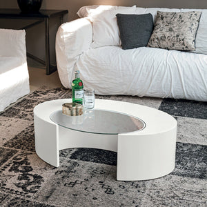 Ciclope curved wooden coffee table by Target Point