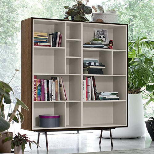 Code 7 display cabinet with book shelves by Dall'Agnese - myitalianliving