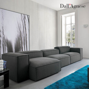 Comfort contemporary sectional Italian sofa by Dall'Agnese - myitalianliving