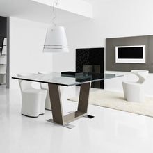 Load image into Gallery viewer, Dori fixed glossy base dining table