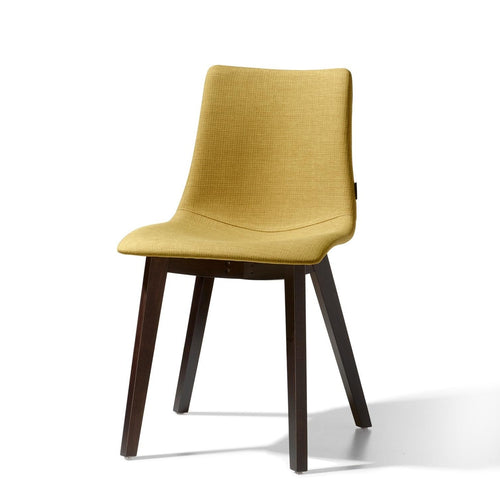 Natural upholstered cross leg frame chair by Scab Design