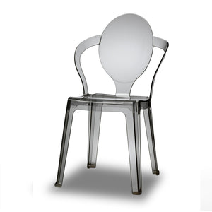 King translucent stacking dining chair
