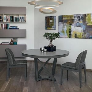 Cronos round modern extending dining table by Target Point