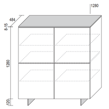 Load image into Gallery viewer, Cube square storage unit with 4 doors by Dall'Agnese - myitalianliving