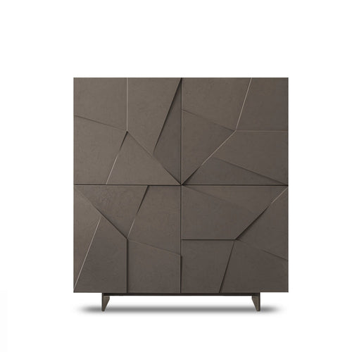 Concrete resin 4 door sideboard by Dall'Agnese - myitalianliving