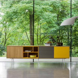 Contemporary long sideboard Wooden Modern