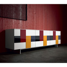Load image into Gallery viewer, Glass mosaic door freestanding sideboard by Dall'Agnese