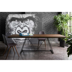 Radar wooden dining table with lacquered base by Dall'Agnese - myitalianliving