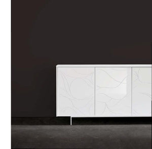 Onda Italian sideboard with engravings by Dall'Agnese