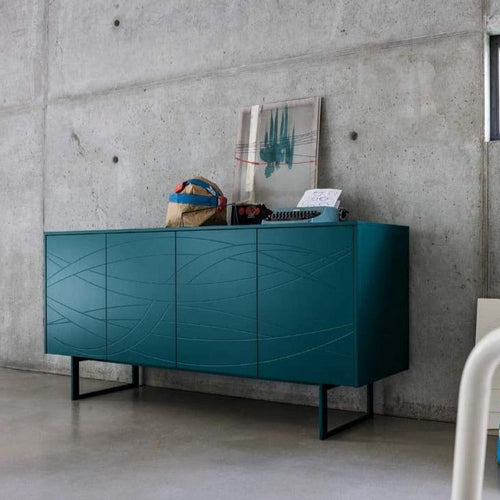 Fiamma sideboard in matt or gloss lacquered finish
