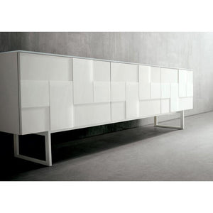 Glass mosaic door freestanding sideboard