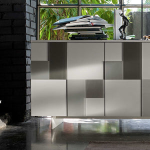 Glass mosaic door freestanding