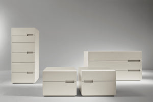 Asola 2 drawer small bedside cabinet by Dall'Agnese