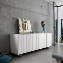 Load image into Gallery viewer, Design white 4 carved door sideboard by Dall'Agnese - myitalianliving