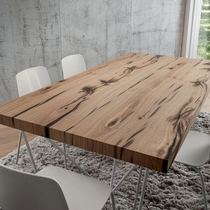 Denis antique natural oak dining table by La Primavera - myitalianliving