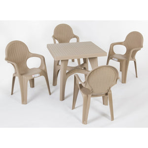 Intrecciata 5 pc resin garden dining set by Scab Design - myitalianliving