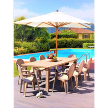 Load image into Gallery viewer, Intrecciata 9 pc resin garden dining set by Scab Design - myitalianliving