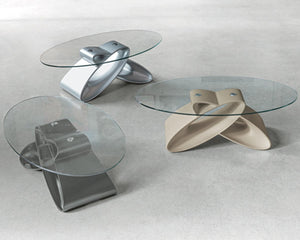 Eclipse modern sculpted coffee table