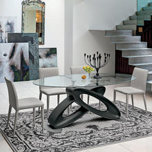 Load image into Gallery viewer, Eclipse glass top fixed dining table by Target Point