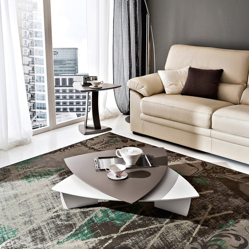 Emma transforming triangular coffee table by La Primavera - myitalianliving