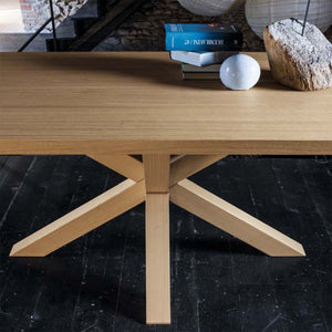Flower wooden three legged dining table by Dall'Agnese