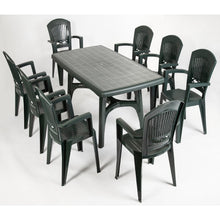 Load image into Gallery viewer, President 9 pc resin garden dining set by Scab Design