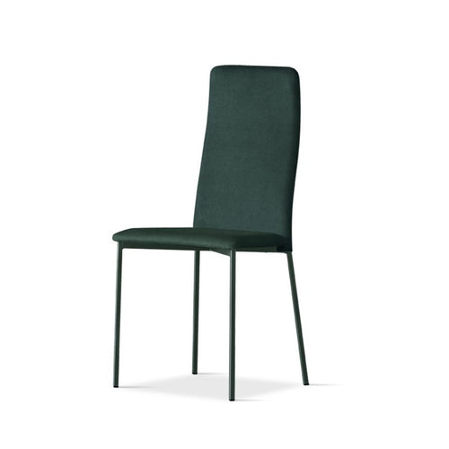 Gaia upholstered high backrest dining chair by Sedit