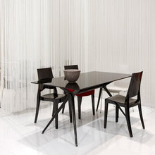 Load image into Gallery viewer, Glenda modern 4pc stacking patio transparent chairs by Scab Design - myitalianliving