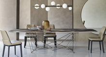 Load image into Gallery viewer, Gordon Crystalart fixed dining table by Cattelan Italia