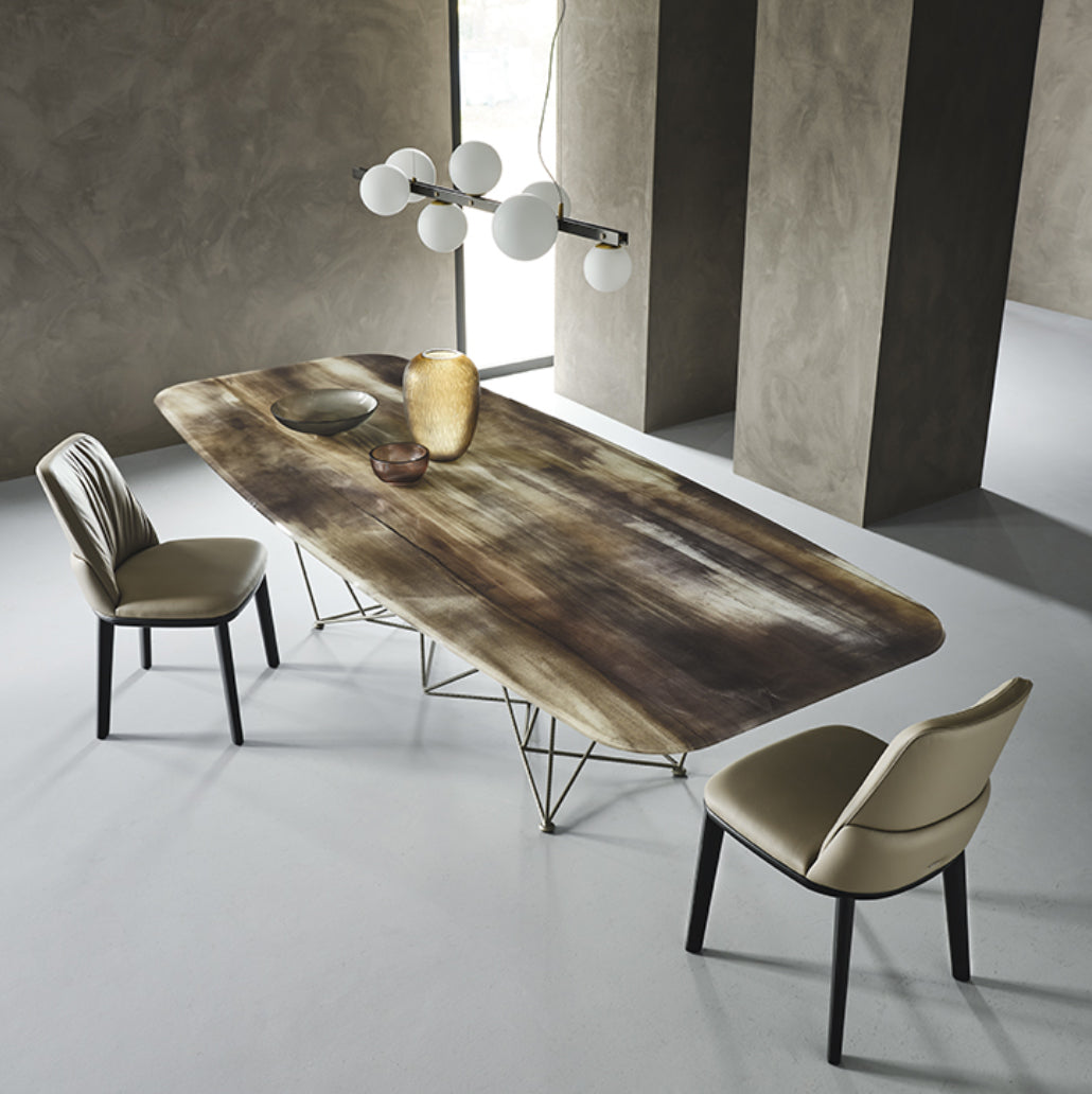 Gordon Crystalart fixed dining table by Cattelan Italia