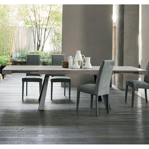 Grecale wooden extending dining table