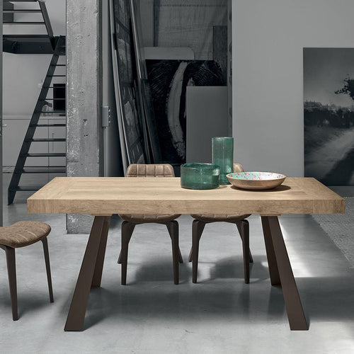 Grecale wooden extending dining table by Target Point